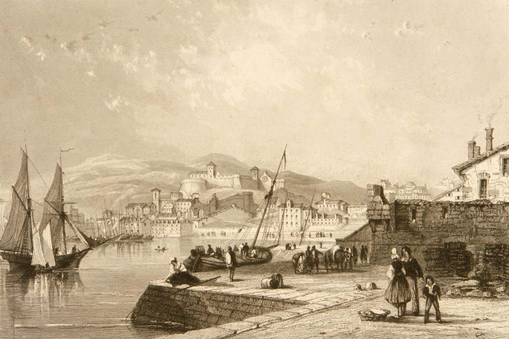 Il Castello dal mare nell'Ottocento
